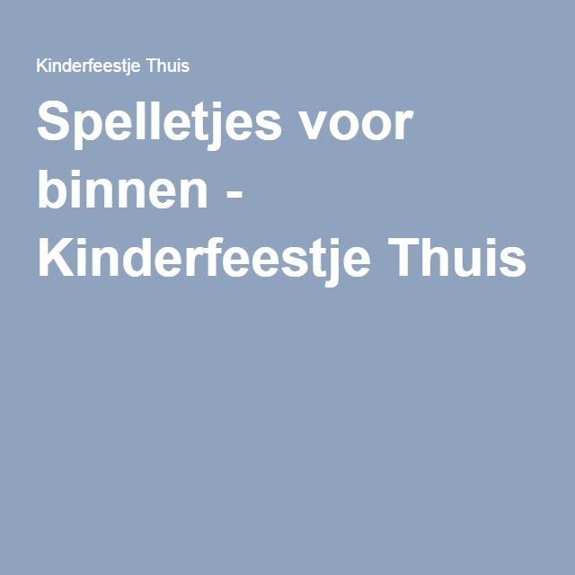 Genoeg Spelletjes voor binnen - Kinderfeestje Thuis | ridders en @SD02