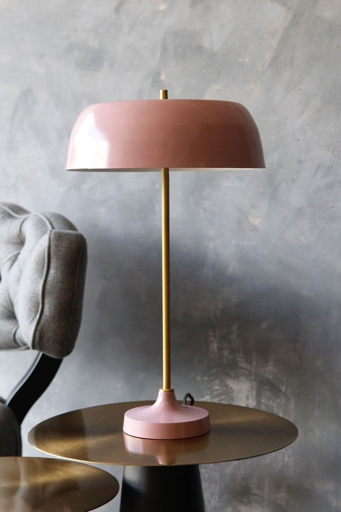 Ventura lamp dusky pink from rockett st george