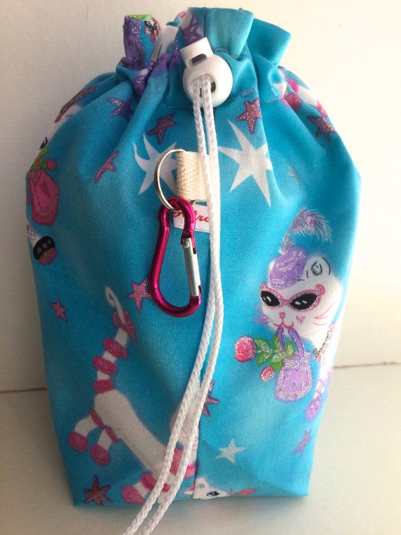 Knitting Project Bag by RosyRetro® 'Cool For Cats'