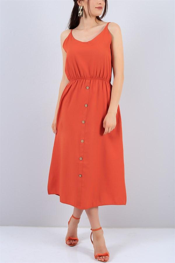 39 95 Tl Kiremit Bel Lastikli Bayan Elbise 14960b Modamizbir The Dress Yazlik Kiyafetler Ve Mankenler