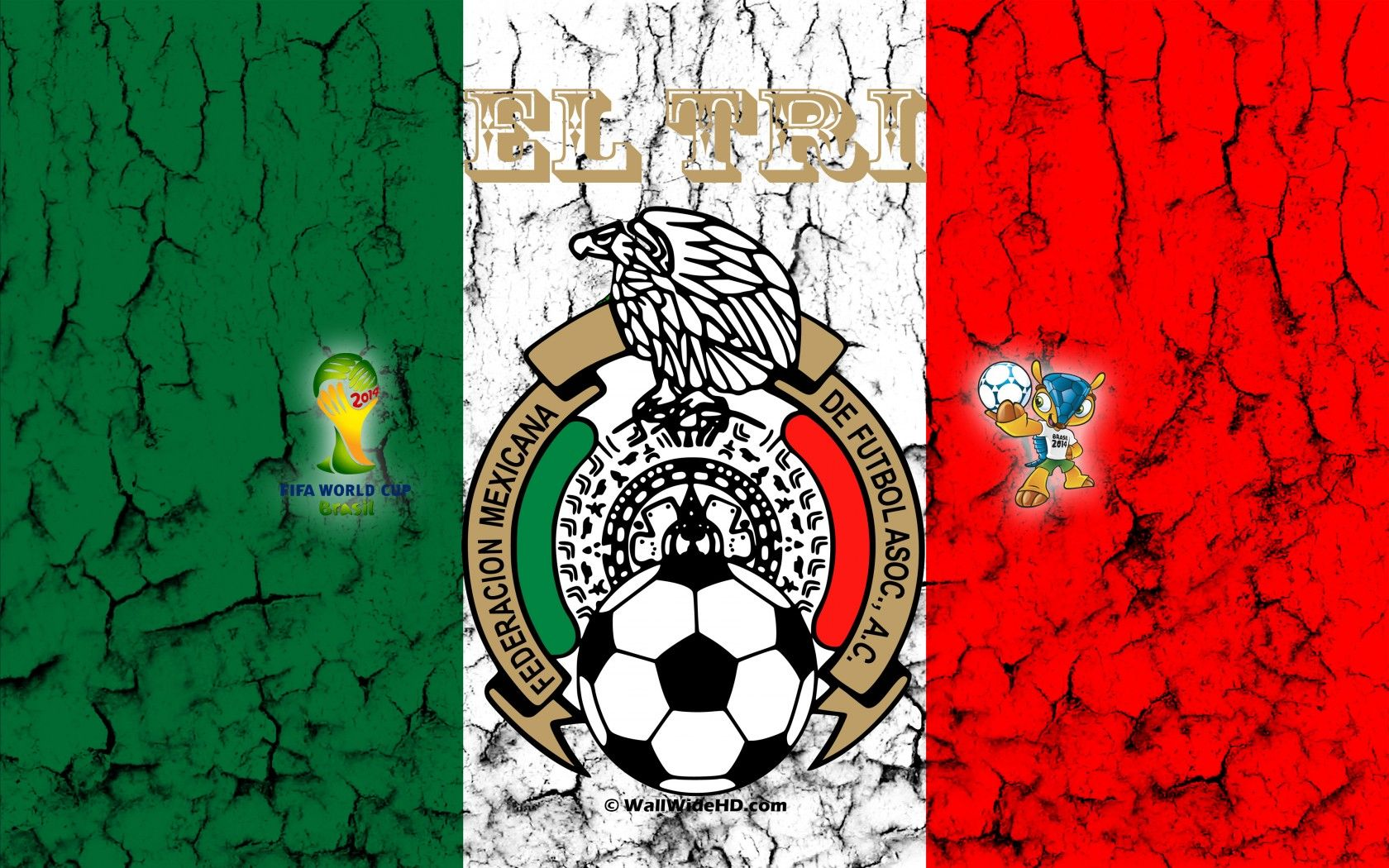 El Tri 2014 Mexico Football Crest Logo World Cup Wallpaper