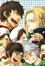 Roma and Germania with their countries and ships