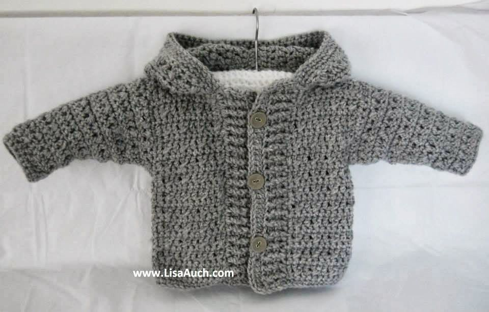 Crochet Baby Boy Cardigan Pattern With Hood Easy Hooded Crochet