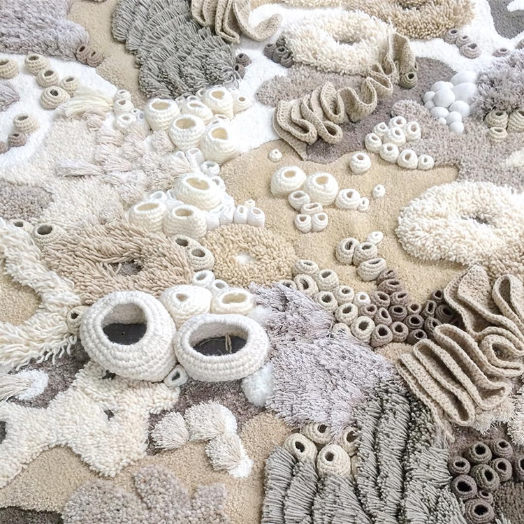Nature-Inspired Textiles Capture the Beauty of Our World's Coral Reef Ecosystem #textiledesign
