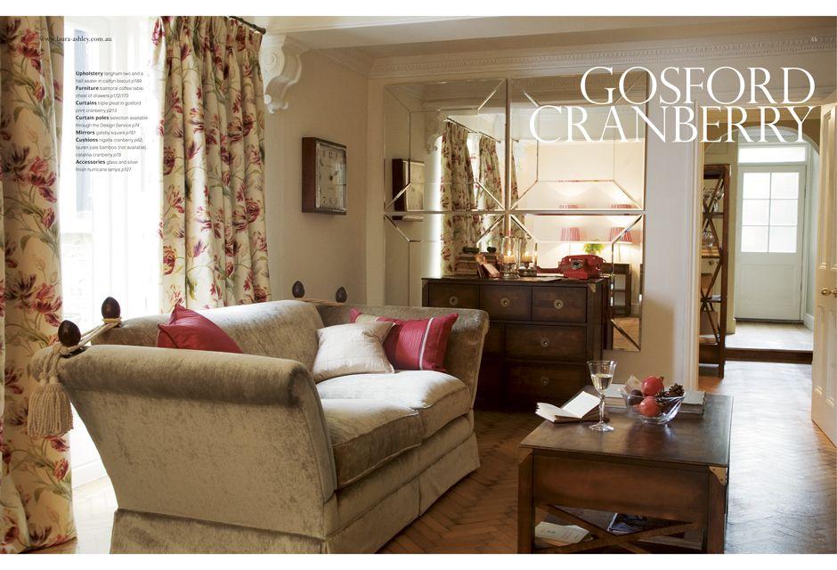 Laura Ashley Gosford Cranberry Living Room Decor Sofa Decor