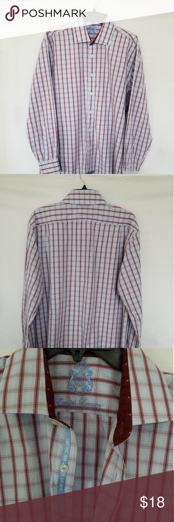 English Laundry Mens Shirt Size 17 34 35 Mens Shirts English Laundry Shirt Size [ 1740 x 580 Pixel ]