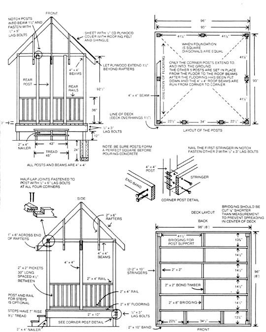 beautiful gazebo plans pdf #2: DIY wood shed projects plans