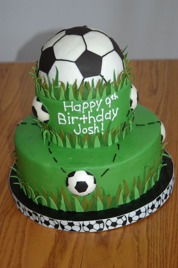 Soccer Cake Cakes Pinterest Soccer cake Cake and Birthdays