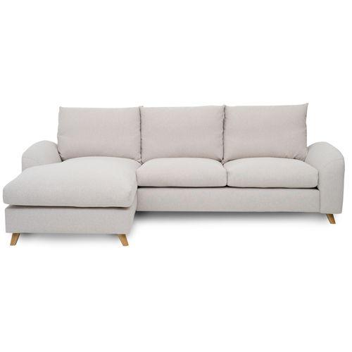 Canapé d´angle gauche en tissu L 265 Nordic Living Beige