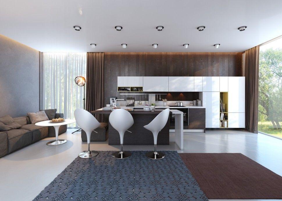Interior Eco Friendly Interior Design Concept For Small House Unique Modern Contemporary Interior Ideas Interior Furniture Countertops Backsplash Tops Kitchen W