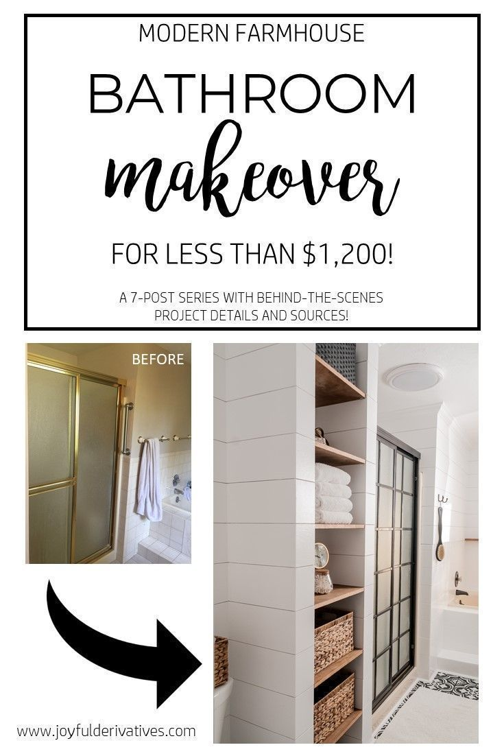 Farmhouse Bathroom / Modern Farmhouse / Affordable Renovations / DIY ...