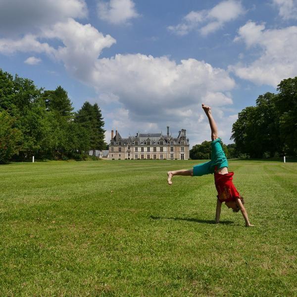 Hier mochten we picknicken. Kasteelvrouwegevoel! Alleen dan zonder butler. #Beauregard #Loirekiekjes
