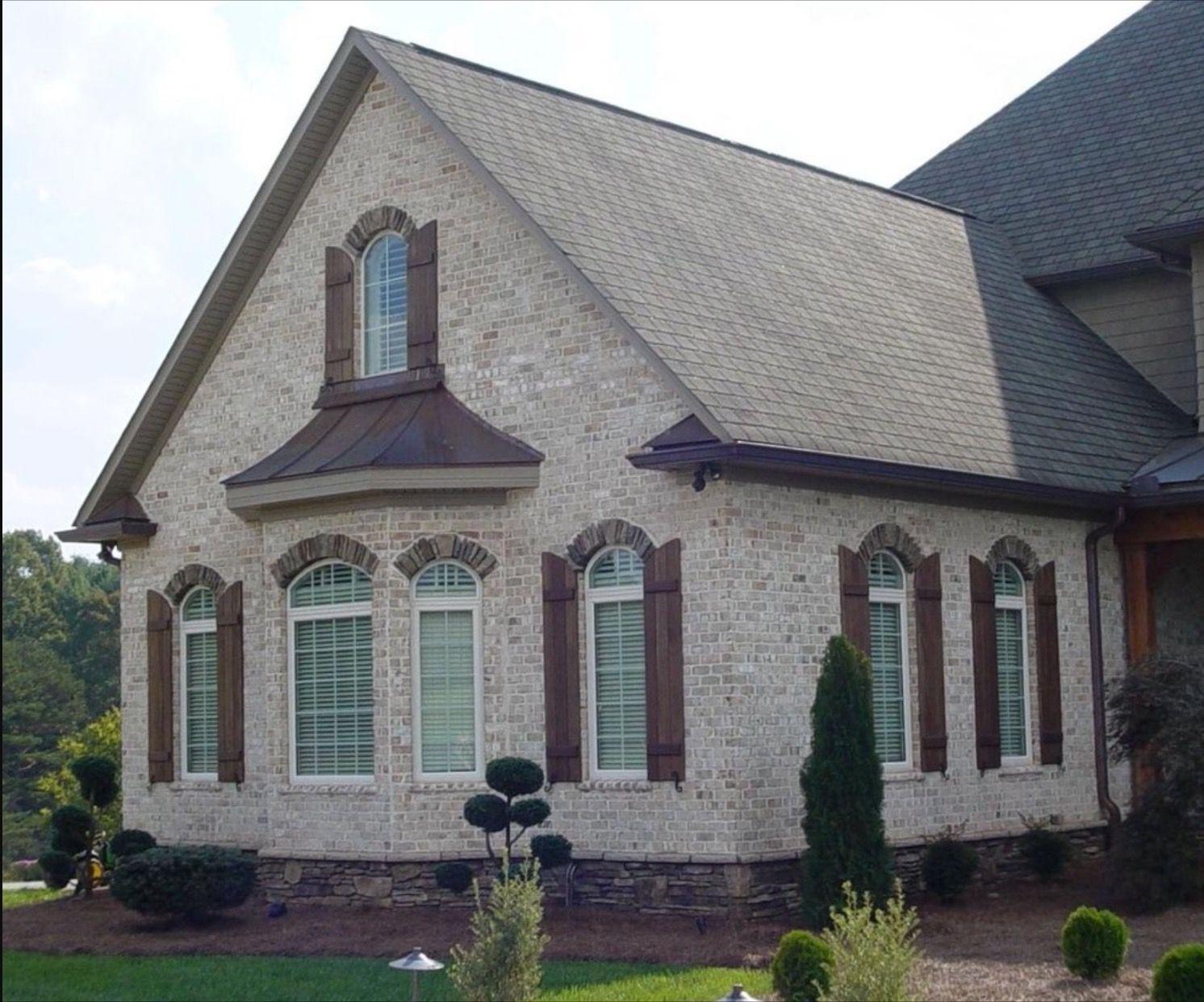 Light brick wood shutters ❤️ | Dream Home | Light brick