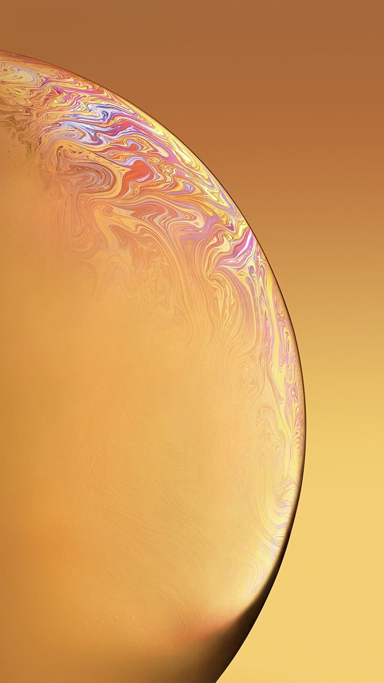 Bg41 Apple Iphone Xs Space Official Art Yellow Bubble Iphone
