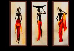 Afrikanische Damen 3 Teilige Bilder Kann Man Super An