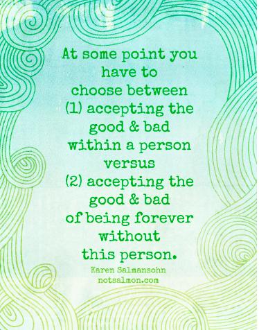Choose between good & bad.