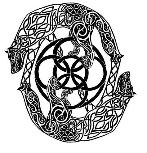 Tribal Celtic Wolf Design By Jjferrit On Deviantart Celtic Wolf Tattoo Celtic Tattoos Nordic Tattoo