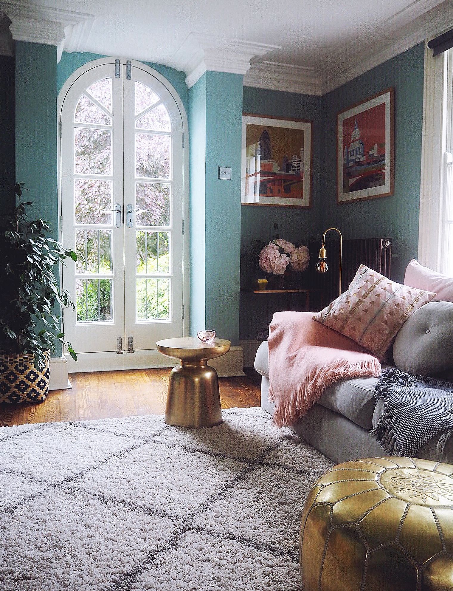 Dix Blue Living Room, Farrow & Ball, Living Room Inspo,
