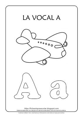 Fichas De Educacion Preescolar Laminas Con Las Vocales Ambientacion Figuras Geometricas Para Preescolar Tarea De Preescolar Actividades De Lectura Preescolar