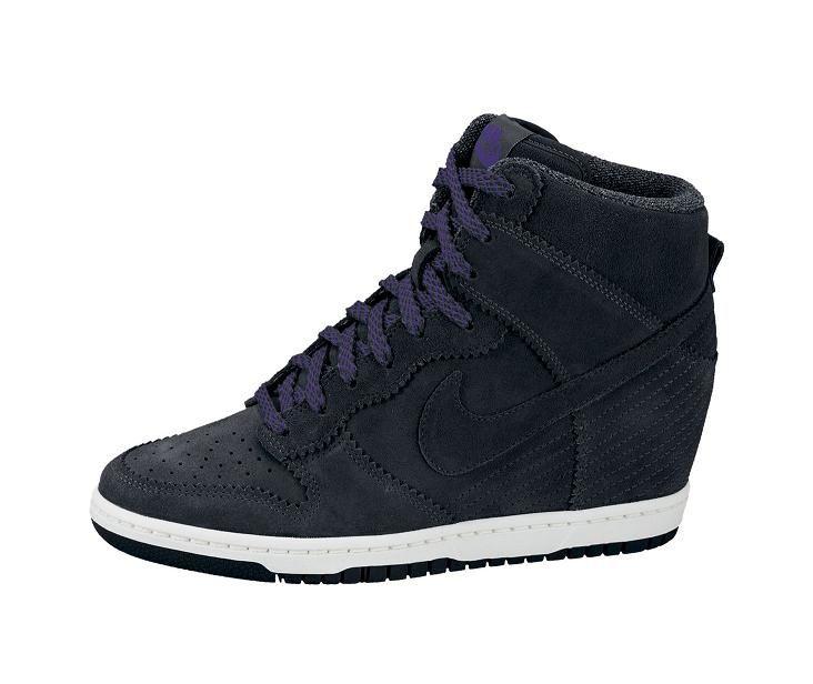 Black Suede Nike Dunk Sky High Hi Wedge Trainer Sneaker   http   www 50386ec8992c