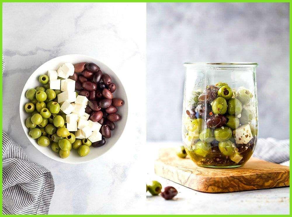 Garlic Marinated Olives and Feta Garlic Marinated Olives and Feta,
