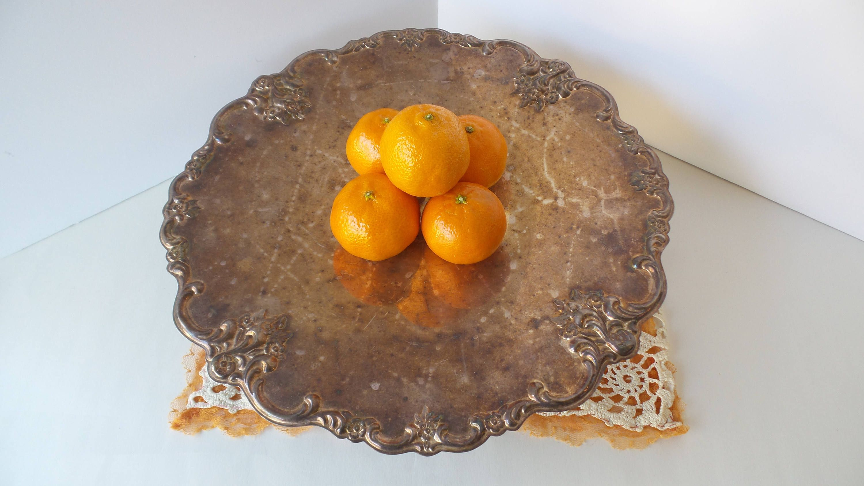 Vintage Silver Cake Stand Silver Plate Cake Plate Footed Cake