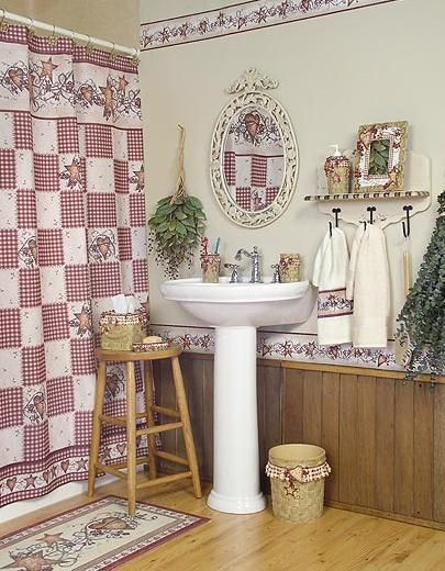 Hearts And Stars Bathroom By Linda Spivey
