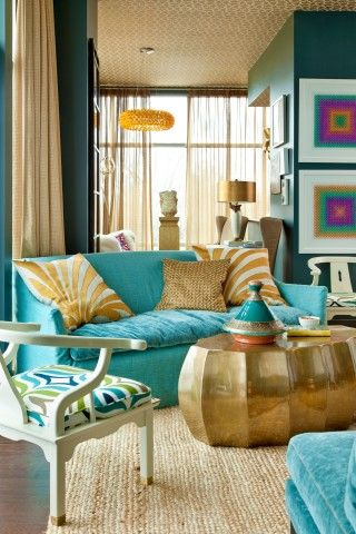 turquoise and gold living roomgordon gregory photography colour schemestiffany blueaqua - Tiffany Blue Living Room Pinterest