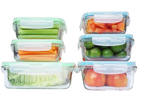Glass Food Storage Containers With Locking Lids Elacra Glass Food Storage Containers With Locking Lids  Perfect For