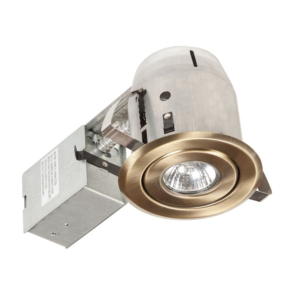 90014 4 Inch Swivel Recessed Lighting Kit Antique Br