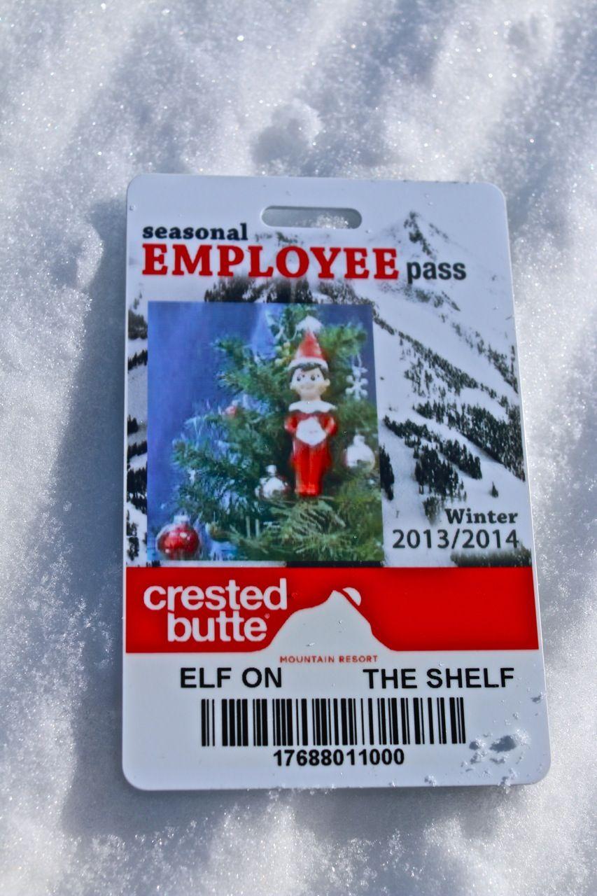 Alfonz had his pass to ski/ride #crestedbutte. Do you? #elfontheshelf