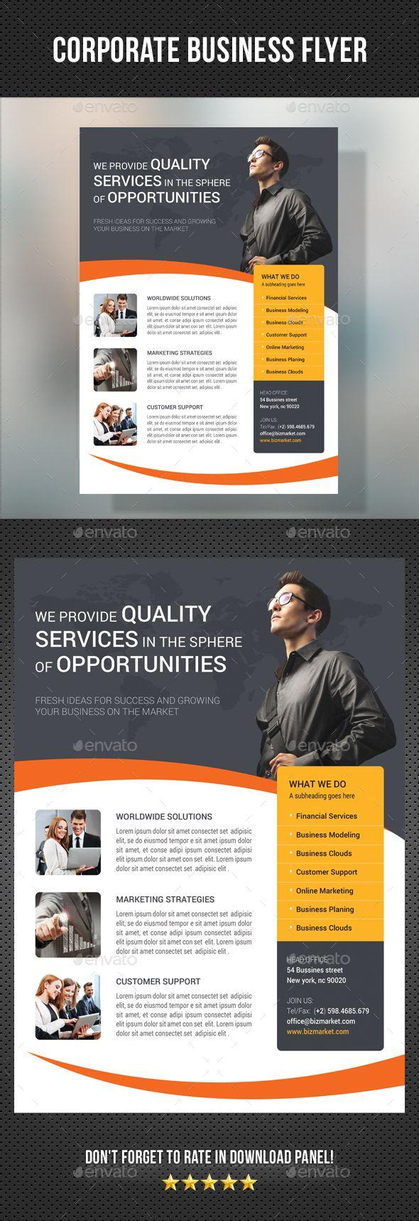 Corporate Business Flyer Template Psd Flyer Templates Pinterest