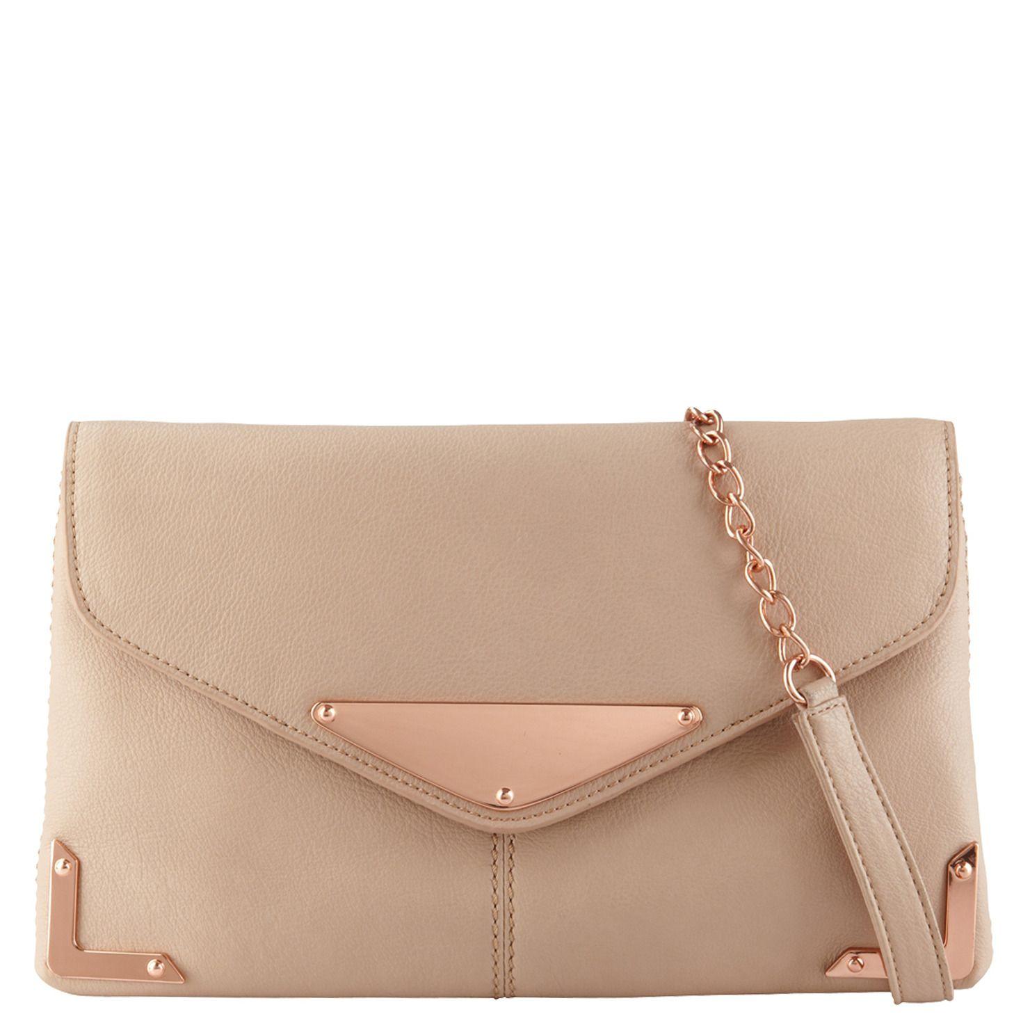 Aldo Paduano Clutch Shoulder Bag W Rose Gold Hardware