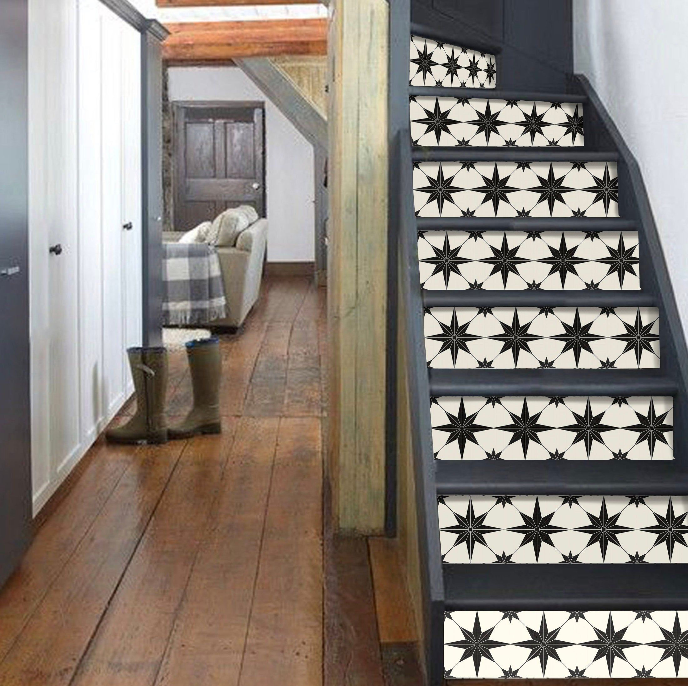 15steps Stair Riser Vinyl Strips Removable Sticker Peel Stick A58 By Snazzydecal On Etsy Stair Riser Vinyl Stair Risers Stairs