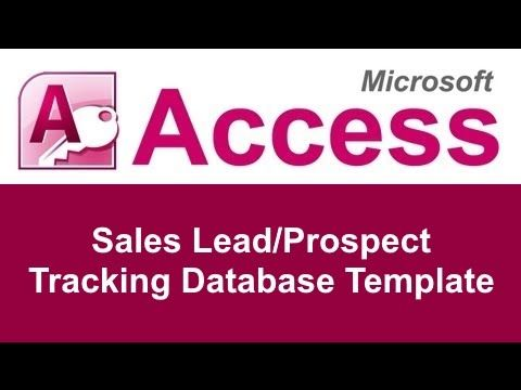 The Microsoft Access Sales LeadProspect Tracking Database