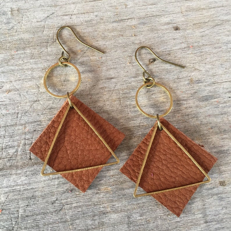 Photo of Dark Brown Leather Earrings – Leather Earrings -Boho Earrings – Leather Drop Earrings – Leather Dangle Earrings – Gift for Her – Boho Chic