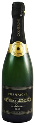 Champagne Charles de Monrency Reserve Brut shows tart citrus and apple flavors