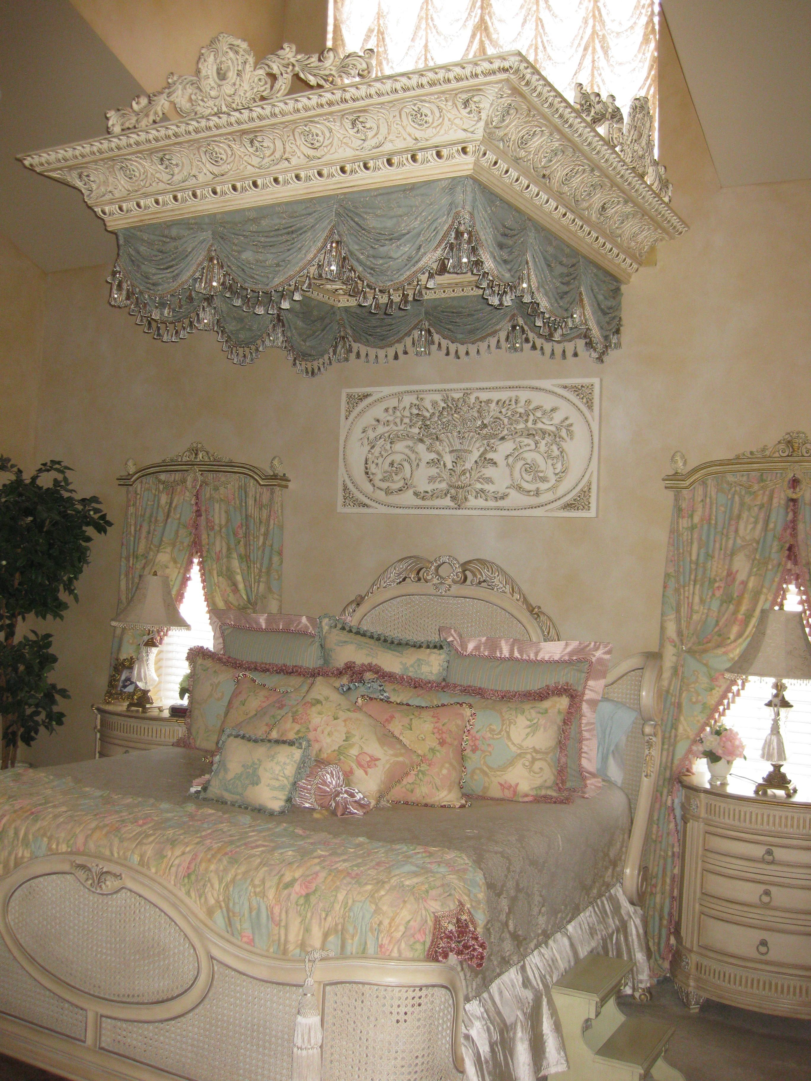 ... With Zampella Designed This Custom Bed Canopy Using A Large Crown ...