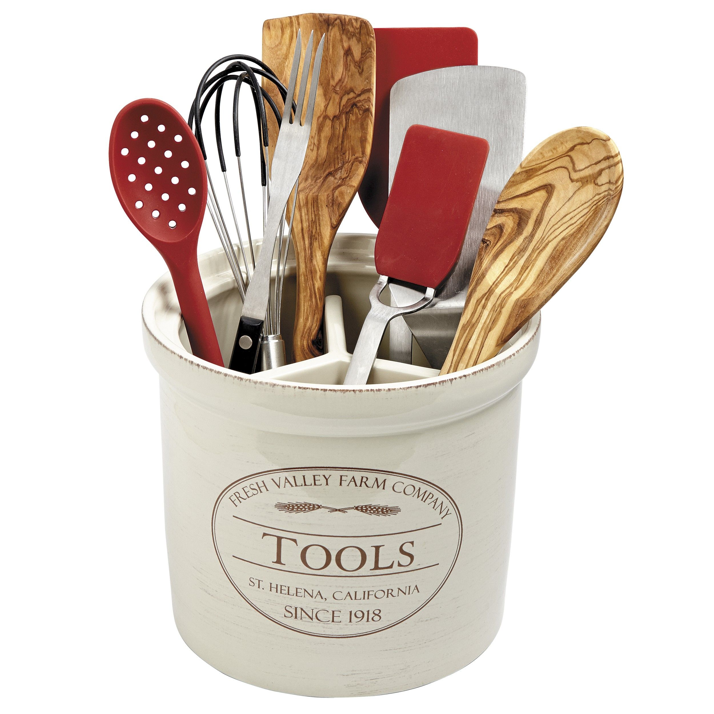 CHEFS Fresh Valley Farm Tool Crock - Off-White : Target | Kitchen by ...