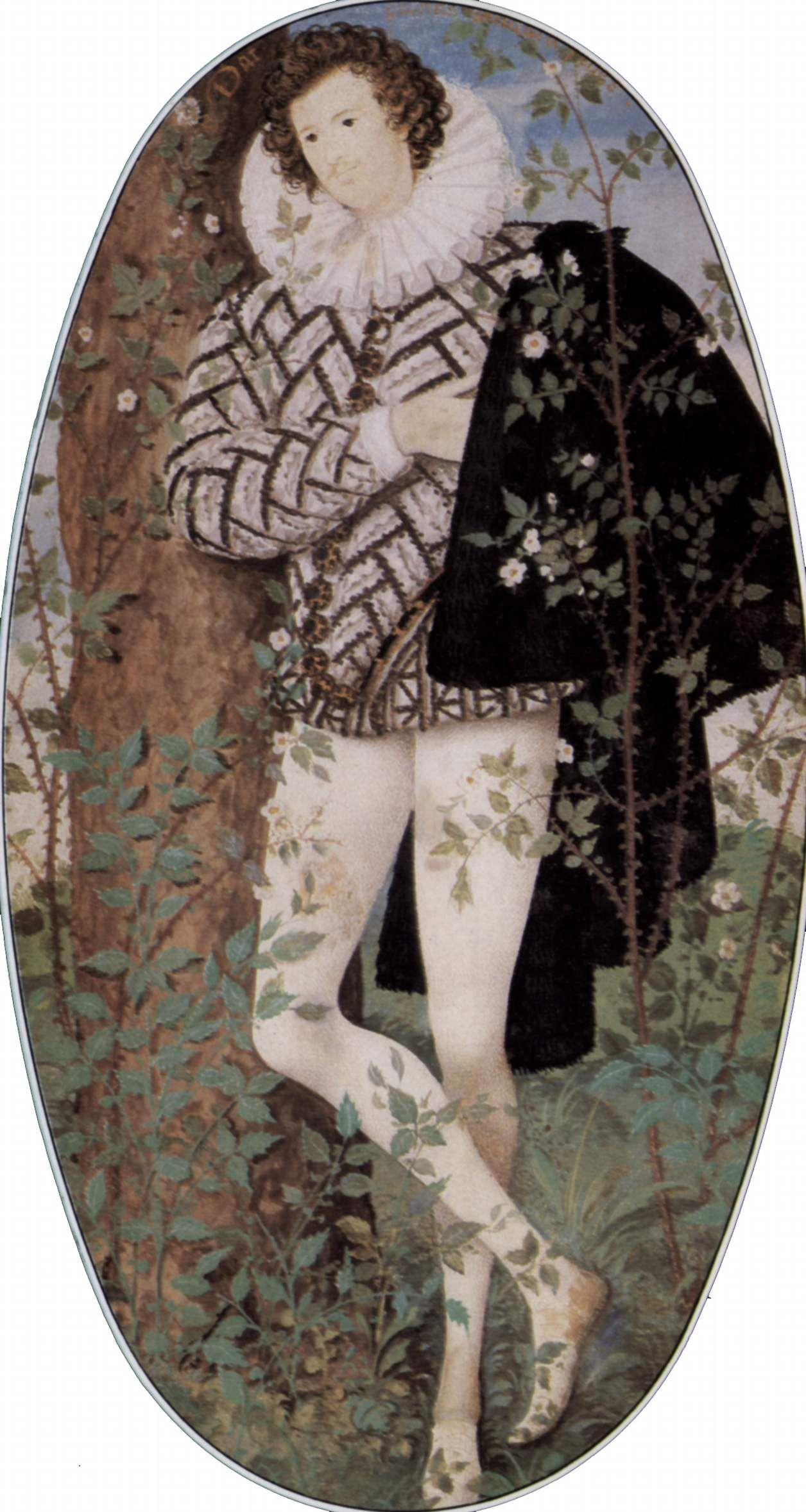 Elizabethan Miniature Melancholy Man Henry Wroithesly