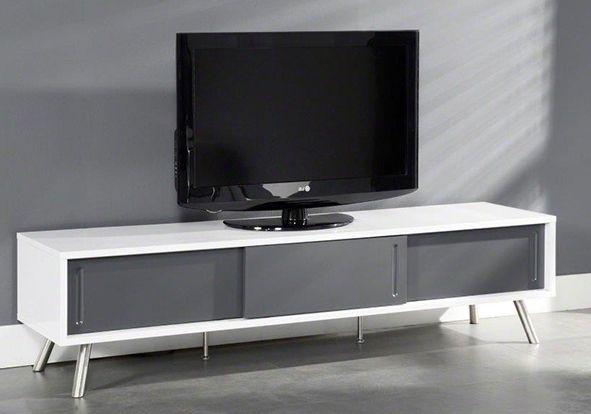 meuble tv design pesquisa google - Meuble Tv Living Blanc Laque For You