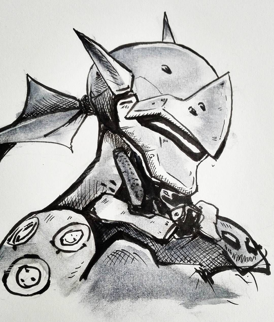 Oh Well..just A Really Quick Drawing Of Genji From