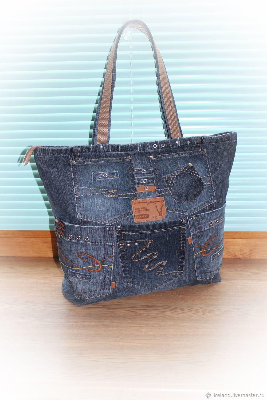 eb32b72f6ca0 Женские сумки ручной работы. Ярмарка Мастеров - ручная работа. Купить  Джинсовая сумка-баул. Handmade. Джинса, сумка на молнии