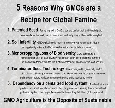 """Say """"NO"""" to GMOs! Do they think it is the answer to the growing population?"""