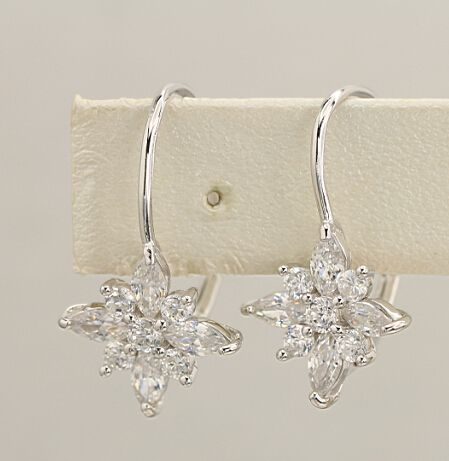 925 silver earrings, cubic zirconia stone, OEM ok, item number: BT04075