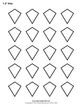Templates for paper piecing | Quilting | Pinterest | Template, Kite ...