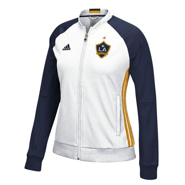 LA Galaxy adidas Women's Anthem Jacket - White/Navy - $89.99