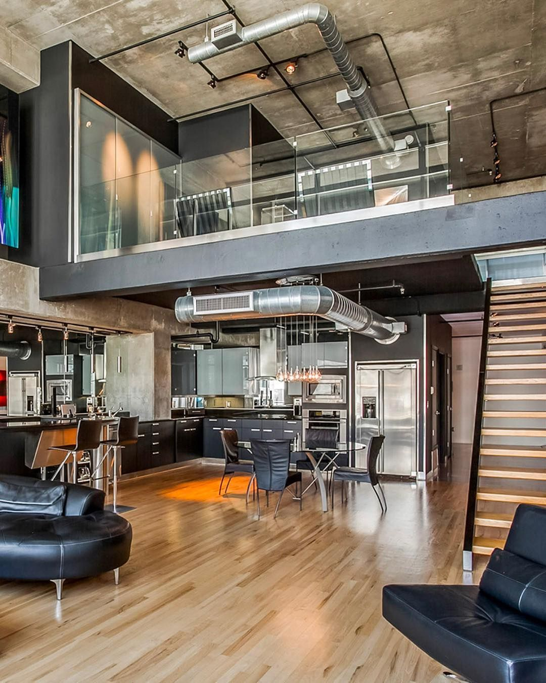Industrial Loft Design In 2020 Loft Design Industrial Loft