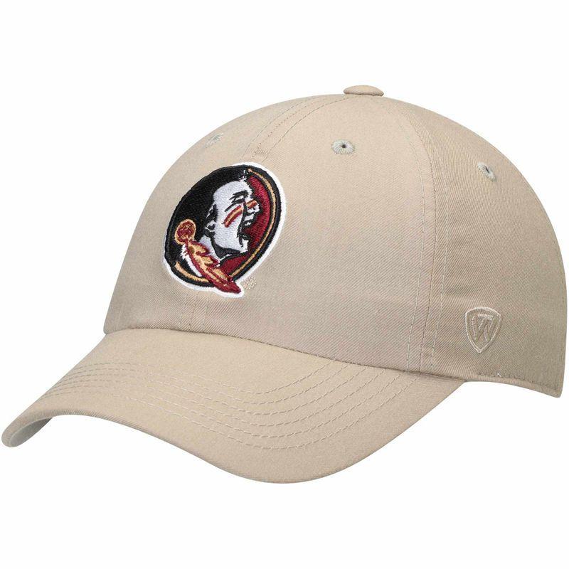half off ddaa9 8a782 Florida State Seminoles Top of the World Main Unstructured Adjustable Hat –  Khaki