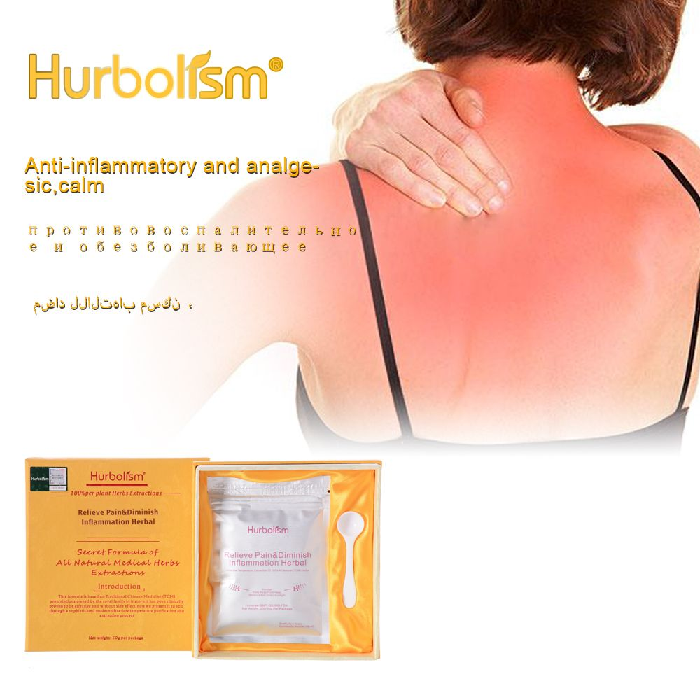 Hurbolism New update TCM Herbal Powder for Relieve Pain & Diminish Inflammation, Anti-inflammatory and analgesic, calm,